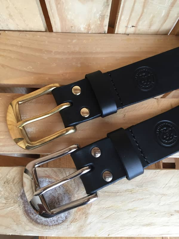 Handmade Black Leather Meavy Belt