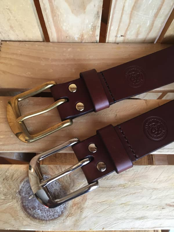 Handmade Brown Leather Meavy Belt