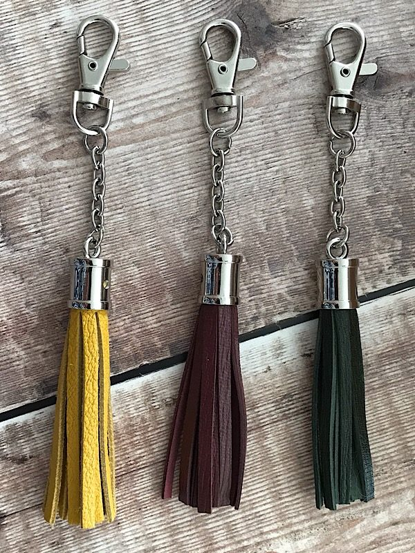 Leather Tassel Various Nickel