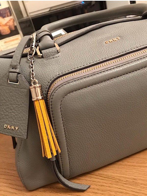 mustard charm on bag